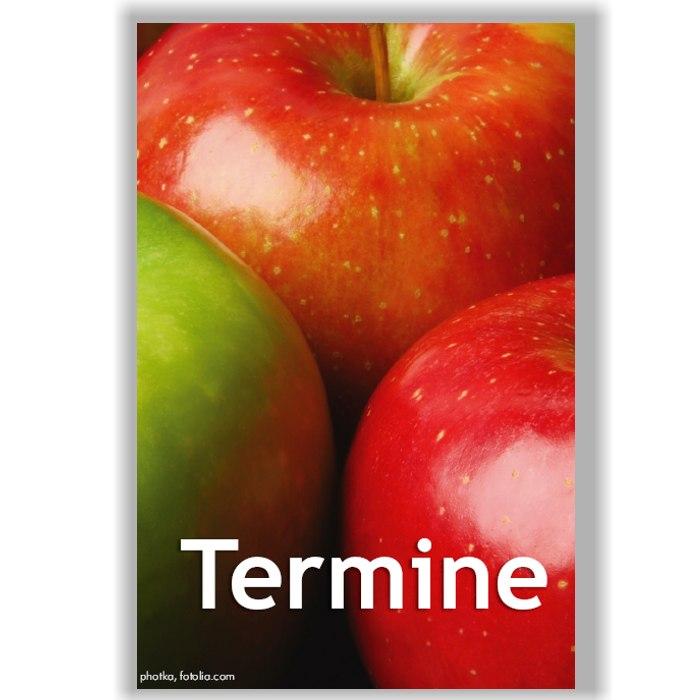Terminkärtchen, Motiv Äpfel