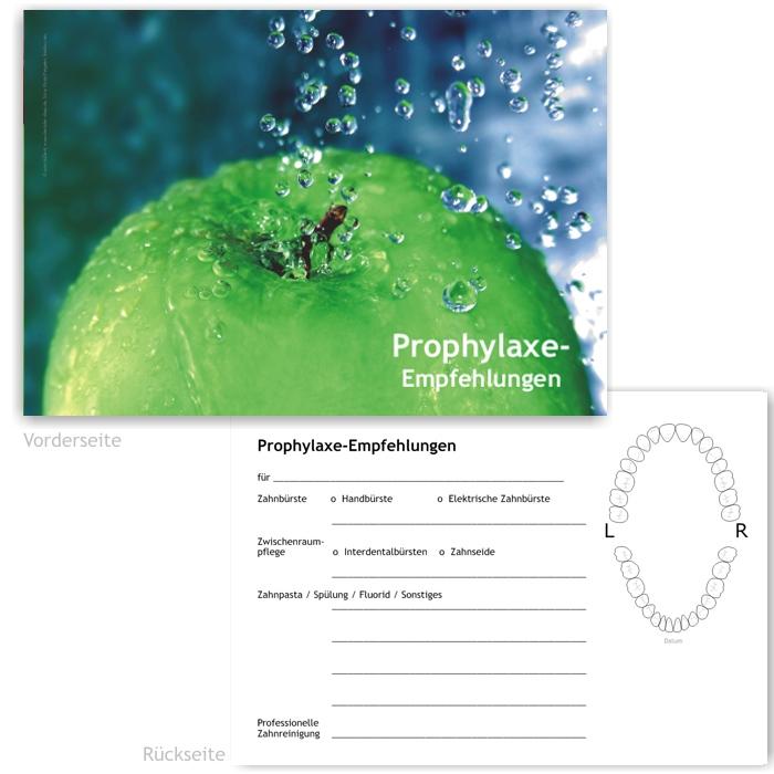 Prophylaxe-Empfehlung, Motiv Frische