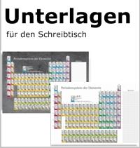 Schreibunterlagen Periodensystem der Elemente